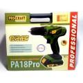 Аккумуляторный шуруповерт ProCraft PA18 Pro PROFESSIONAL