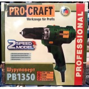 Шуруповерт ProCraft PB 1350 Professional