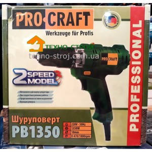Шуруповерт ProCraft PB 1350 Professional
